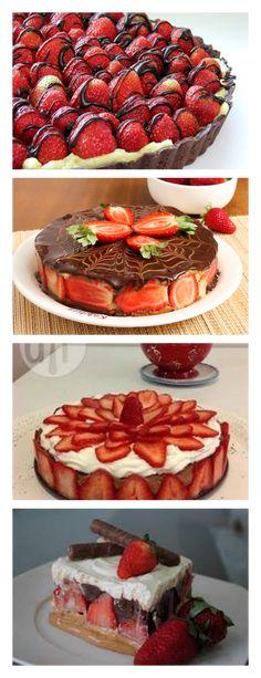 Torta sensação de morango VEJA>> SALVE ESTE PIN Cozinhe a lata de leite condensado na panela de pressão por 15 minutos, espere gelar #bolo#torta#doce#sobremesa#aniversario#pudim#mousse#pave#Cheesecake#chocolate#confeitaria
