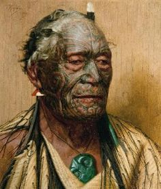NEW ZEALAND: Waitangi. Treaty House and grounds: the site where the Treaty of Waitangi was first signed on the of February (Photo: Goldie painting of Tamati Waka Nene from Treasures - Waitangi National Trust. Tahiti, Waitangi Day, Auckland Art Gallery, Maori People, New Zealand Art, Nz Art, Maori Art, Kiwiana, Body Painting
