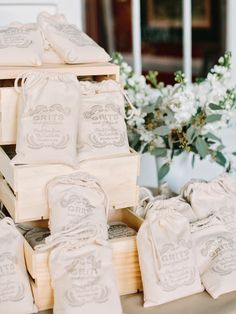 Grits Wedding Favors | photography by http://www.amyarrington.com