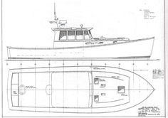 lobster boat drawing - Google Search
