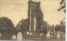 Parish Church yard, North Walsham, note tombstones and railings still in situ. North Walsham Photograph. #NorthWalsham #Church #NorthNorfolk