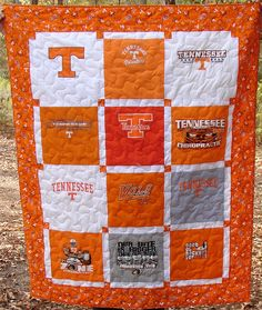 University of Tennessee T-shirt Quilt | by Nancy - Breaux Bunch Quilts