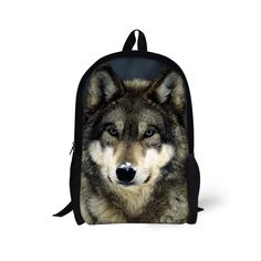 Cool Wolf Kids' School Backpack For Junior School Boys Back to School Book Bags #Unbranded #BackpackBookbag