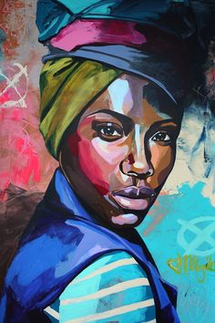 A set of painting of modern day African woman living in the city. Vibrant color patterns depicts their strong and independent personality each of all the African American women today. Each oil painting is created by hand using only the finest canvas and o Black Girl Art, Black Women Art, Art Girl, Painting People, Woman Painting, Art Watercolor, African American Art, American Women, Portrait Art