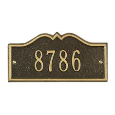 Whitehall Products 1182 Personalized One Line Petite Hillsboro Wall Address Plaque