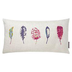 Buy Harlequin Limosa Cushion, Logan / Raspberry Online at johnlewis.com