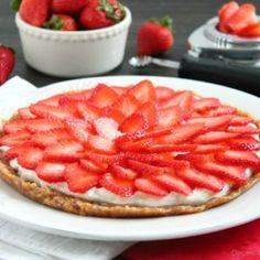Strawberry Greek Yogurt Tart with Cashew Date Crust
