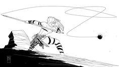 Warriorwoman 2 by PatBoutin