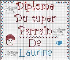 Bébé - baby - parrain - point de croix - cross stitch - Blog : http://broderiemimie44.canalblog.com/