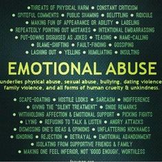 Emotional abuse is as damaging as physical abuse, if not more. Emotional abuse underlies every other kind of abuse there is. Trauma, Verbal Abuse, Signs Of Emotional Abuse, Narcissistic Personality Disorder, Narcissistic Sociopath, Narcissistic Behavior, Personality Disorder Types, Frases, Therapy Worksheets