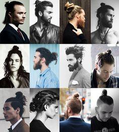 Uzun Erkek Saç Modeller : Topuz