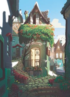 Kai Fine Art is an art website, shows painting and illustration works all over the world. Fantasy Landscape, Landscape Art, Landscape Design, Fantasy Art Landscapes, Casa Anime, Posca Art, 8bit Art, Fantasy Kunst, Anime Fantasy