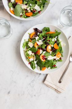 Persimmon and Pomegranate Salad / See and Savour (California Mix Vegetables)