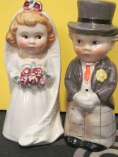Vintage Goebel Hummel Bride and Groom Salt and Pepper Shaker Germany 1950'S | eBay