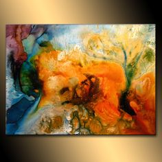 Abstract Art Huge Abstract Painting Original Abstract painting Contemporary Modern Fine Art Colorful Canvas Art by Henry Parsinia 48x36. $2,000.00, via Etsy.