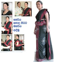 Sri lankan Traditional Kandyan Saree Designs: How To Wear Osariya