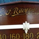Vintage Riley scoreboard. Oak. B507 | Browns Antiques Billiards and Interiors.