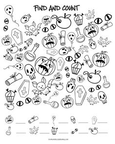 Free Halloween Activity Sheets For Kids
