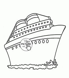 cruise ship coloring page for kids transportation coloring pages printables free wuppsycom