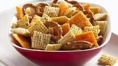 Cheesy Ranch Chex Mix the kind that @Sarah Chintomby Payne made for the Christmas party