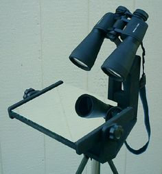 Binocular Mirror Mount is part of Astronomy - Arduino, Technology Hacks, Look At The Moon, Mirror Tray, Camera Tripod, Nature Study, Space Exploration, Woodworking Shop, Telescope