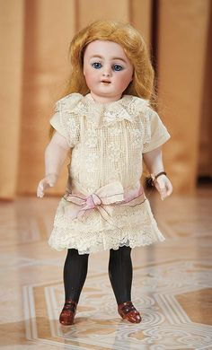 Large German All-Bisque Black-Stocking Doll,886,by Simon and Halbig, circa 1890