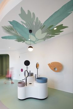 KOKO | 12:43 Architekten Clinic Interior Design, Clinic Design, Children's Clinic, Daycare Design, Hotels For Kids, Kids Toilet, Kindergarten Design, Medical Office Design, Hospital Design