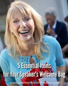 Bless the speaker at your next women's ministry event, conference, or retreat with a welcome bag. These are the 5 things you need to be sure to include. Retreat Gifts, Women's Retreat, Retreat Ideas, Christian Conferences, Womens Ministry Events, Christian Women's Ministry, Swag Ideas, Church Events, Welcome Bags