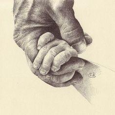schets handen crayon