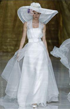Vestido de novia con cinturón