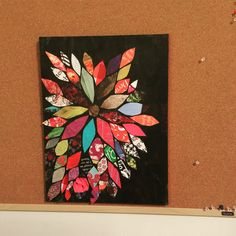 Thank you pintrest for this great idea. Canvas art, decoupage, modgepodge