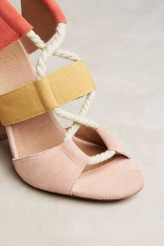 Slide View: 5: Bettye Calypso Lace-Up Heels