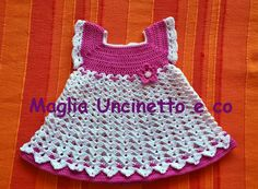 Vestitino piccola principessa uncinetto #vestitinoneonata #uncinetto #crochet #newborn #dress