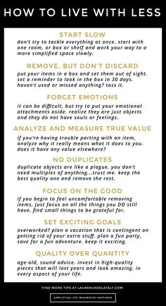 """Simple, actionable tips on how to start living with less and declutter successfully!! 