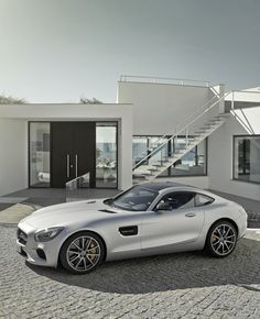 Mercedes-Benz has revealed the Mercedes-AMG GT, the new sportscar that replaces the SLS and introduces a new, more sensual design treatment and a more compact package. Mercedes Benz Amg, Mercedes Car, Escuderias F1, Lamborghini, Ferrari, Carl Benz, Automobile, Mercedez Benz, New Sports Cars