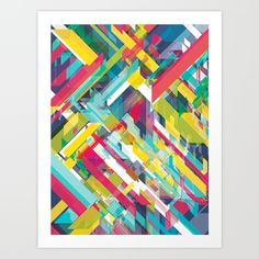 vector, abstract, colourful, geometric, yellow, pink, blue, green,