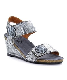 Another great find on #zulily! Pewter Pyramid Leather Sandal #zulilyfinds