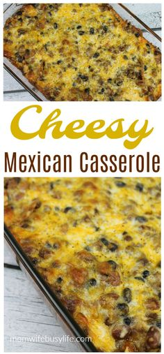 Easy Cheesy Mexican Casserole - All Recipes Easy Pastas Recipes, Lunch Recipes, Easy Dinner Recipes, Beef Recipes, Mexican Food Recipes, Breakfast Recipes, Vegetarian Recipes, Easy Meals, Cooking Recipes