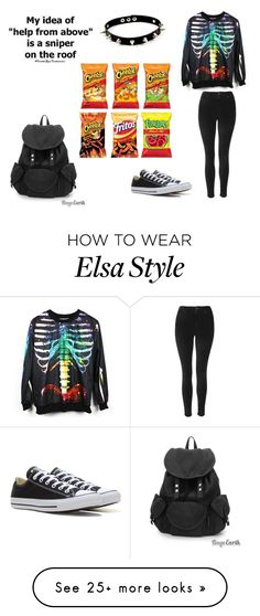 """Untitled #237"" by nightstalker on Polyvore featuring Novelty, Topshop, Converse and Disney"
