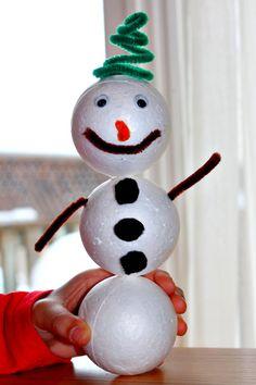 Keepin' 2 Boys Busy: Styrofoam Snowman
