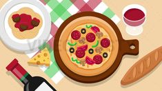 Italian Pizza Food Scene Stock Animation [MOV & GIF] Royalty Free Video, Animated Icons, Pizza Food, Pizza Recipes, Italian Recipes, Scene, Animation, Make It Yourself, Youtube