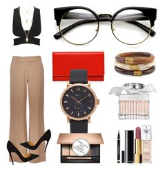 """""""Mei 001"""" by meijuny ❤ liked on Polyvore featuring Wallis, Christian Louboutin, Carré Royal, Chico's, Marc Jacobs, Forever 21, Chloé, L'Oréal Paris and Chanel"""
