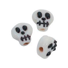 Skull Lampwork Beads - 15mm - OrientalTrading.com