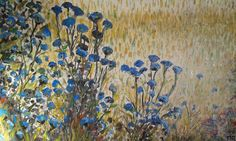 Weeds of the land of Tuscany. Oil on canvas. Picture of Piero Petillo