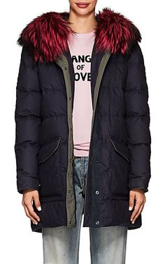 We Adore: The Fur-Trimmed Down-Quilted Cotton-Blend Parka from Mr