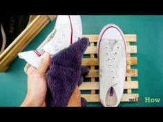 4 Ways to Clean White Converse - wikiHow How To Clean White Converse, White Converse Shoes, Platform Converse, Painted Converse, Taylor R, Chuck Taylor Sneakers, Your Shoes, Chuck Taylors