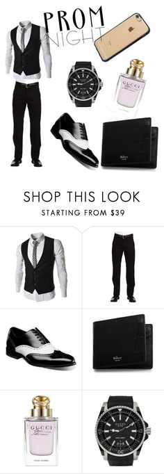 """prom"" by samrica0704 ❤ liked on Polyvore featuring Dockers, Stacy Adams, Mulberry, Gucci, Incase, men's fashion and menswear"