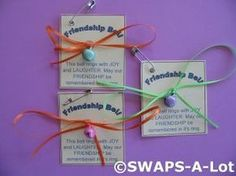 Mini Friendship Bell SWAPS Kit for Girl Kids Scout makes 25 - I think this would be great for International travel