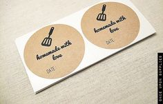 40 Mason Jar Labels for Homemade Goods Labels by OnceUponSupplies, $17.00