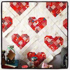 Scrappy Heart Block Tutorial – INLove | Crimson Tate :: Modern Quilter